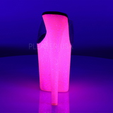 Transparent FLAMINGO-801UVG 20 cm Neon Plateforme Mules Chaussures