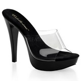 Transparent Noir 14 cm COCKTAIL-501 Mules Talon Haut