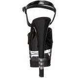 Transparent Noir 18 cm SKY-309LN Chaussures Plateau Talon Haut