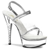 Transparent Pierres Strass 15 cm DIAMOND-639 Chaussures Talon Haut