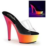 Transparent RAINBOW-201UV 15,5 cm Neon Plateforme Mules Chaussures