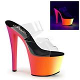 Transparent RAINBOW-302UV 18 cm Neon Plateforme Mules Chaussures