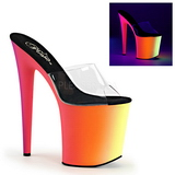 Transparent RAINBOW-801UV 20 cm Neon Plateforme Mules Chaussures