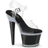 Transparent sandales plateforme 18 cm SPECTATOR-708RS sandales talons hauts pleaser