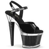 Transparent sandales plateforme 18 cm SPECTATOR-709 sandales talons hauts pleaser