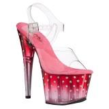 Transparent sandales plateforme 18 cm STARDUST-708T sandales talons hauts pleaser