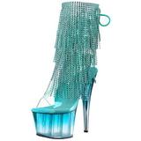 Turquoise 18 cm ADORE-1017RSFT bottines a frangees pour femmes a talon