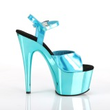 Turquoise 18 cm ADORE-709HGCH Hologramme talons avec plateforme