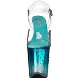 Turquoise 20 cm STARDUST-808T Plateforme Sandales Hauts Talons