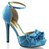 Turquoise Satin 12 cm LUMINA-36 Chaussures Escarpins de Soirée