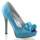 Turquoise Satin 12 cm LUMINA-42 Chaussures Escarpins de Soirée