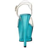 Turquoise Transparent 18 cm MOON-708DMCH Plateforme Haut Talon