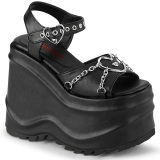 Vegan 15 cm Demonia WAVE-09 lolita sandale talon compensé plateforme