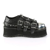 Vegan 7 cm GRAVEDIGGER-03 Chaussures Gothiques Hommes Plateforme