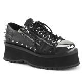 Vegan 7 cm GRAVEDIGGER-04 Chaussures Gothiques Hommes Plateforme
