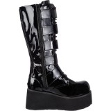 Vegan 8,5 cm TRASHVILLE-518 bottes demonia - bottes plateforme unisex