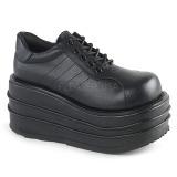 Vegan 9 cm TEMPO-08 Chaussures Gothiques Hommes Plateforme