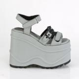 Vegan Neon 15 cm Demonia WAVE-13 lolita sandale talon compensé plateforme