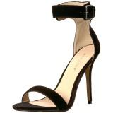 Velours 13 cm Pleaser AMUSE-10 sandales à talons aiguilles