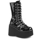 Verni 11,5 cm DEMONIA KERA-50 bottes gothique avec plateforme