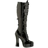 Verni 13 cm ELECTRA-2042 plateformes bottes à boucles pour femmes