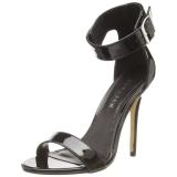 Verni 13 cm Pleaser AMUSE-10 sandales à talons aiguilles