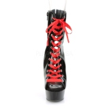 Verni 15 cm DELIGHT-1016FH bottines pleaser plateforme corsage