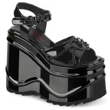Verni 15 cm Demonia WAVE-09 lolita sandale talon compensé plateforme