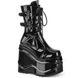 Verni 15 cm WAVE-150 demonia bottes talon compensé
