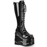 Verni 15 cm WAVE-200 demonia bottes talon compensé