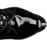 Verni 18 cm ADORE-2023 plateformes bottes à lacets pour femmes