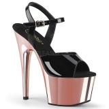 Verni 18 cm ADORE-709 Chaussures Talon Haut Plateforme Rose