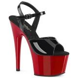 Verni 18 cm ADORE-709 Chaussures Talon Haut Plateforme Rouge