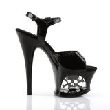 Verni 18 cm MOON-709SK Plateforme Chaussures Talon Haut