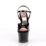 Verni 18 cm SKY-309TT pleaser sandales à semelles dorée