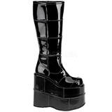 Verni 18 cm STACK-301 Bottes Gothiques Hommes Plateforme