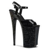 Verni 23 cm Pleaser INFINITY-909MG chaussures à talons etincelle