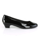 Verni 3 cm GWEN-01 escarpins pour homme et drag queens en noires