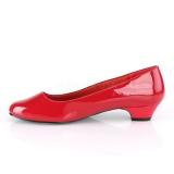 Verni 3 cm GWEN-01 escarpins pour homme et drag queens en rouges