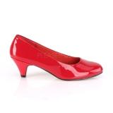 Verni 6 cm FEFE-01 escarpins pour homme et drag queens en rouges