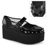 Verni 7 cm GRIP-01 plateforme chaussures lolita