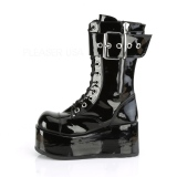 Verni 9,5 cm PETROL-150 bottes demonia - bottes plateforme unisex