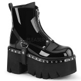 Verni 9 cm ASHES-100 bottines demonia plateforme
