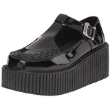 Verni CREEPER-214 Chaussures Creepers Femmes Plateforme