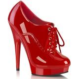 Vernis 15 cm SULTRY-660 plateforme chaussure richelieu talon haut rouge