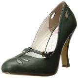 Vert 10 cm SMITTEN-20 Pinup escarpins femmes à talons bas