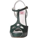 Vert 11,5 cm retro vintage BETTIE-23 Sandales de Soirée a Talon