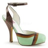 Vert 11,5 cm retro vintage CUTIEPIE-01 Pinup sandales plateforme cachée