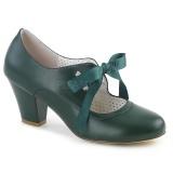 Vert 6,5 cm WIGGLE-32 Pinup escarpins femmes à talons épais