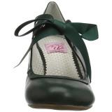 Vert 6,5 cm WIGGLE-32 retro vintage escarpins maryjane à talons épais